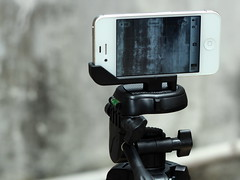 Test Rig - iphone 4s with Glif Mount on tripod (wZa HK) Tags: tripod rig iphone glif iphone4s