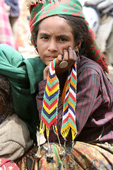 Hill Tribe Mountain Village Girl Far West Nepal (eriagn) Tags: travel nepal portrait mountain girl beautiful rural trekking canon eos beads asia village adventure explore remote ethnic beading isolated hamlet roofoftheworld simikot karnaliriver farwestnepal eriagn