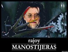 Rajoy ManosTijeras (sordojr) Tags: espaa spain manos edward mariano rajoy eduardo scissorhands politica recortar tijeras recortes manostijeras sordojr