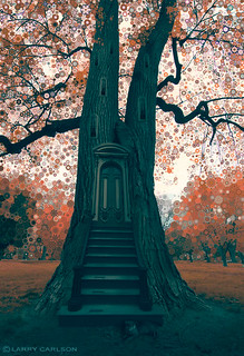 LARRY CARLSON, Shadows Tree House, digital photography, 2010.