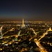Paris by night from Tour Montparnasse