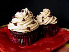Devilish Cookie Dough Cupcakes (lorinelise) Tags: food cute love cake recipe dessert baking cookie heart sweet chocolate dough devils sugar homemade cupcake butter gift chip swirl devilish bake frosting