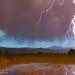 Lightning Striking Longs Peak Foothills 5