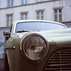 * (John Erik) Tags: detail 120 6x6 tlr film car oslo norway mediumformat square volvo fuji chrome headlight 100 provia grnerlkka xenotar rolleiflex35f