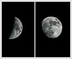 Moon Duo (jbone66 (Jay B)) Tags: moon night canon crescent gibbous waxing extender 2x