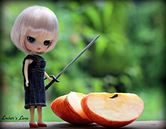 Lena: Weapon of choice #9 (pure_embers) Tags: uk cute apple girl doll dolls little dal weapon sword theme choice humpty dumpty pure embers