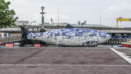"""The Big Fish"" In Belfast By John Kindness (Lagan Weir)"
