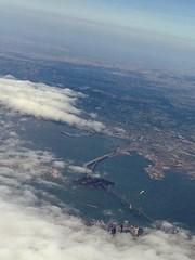 New Bay Bridge and San Francisco (klvinci) Tags: sanfrancisco vacation england london europe aerialview baybridge virginatlantic 2012 flyingclub ffmilesupgrade