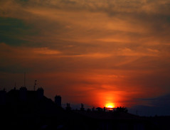 sunset from my balcony (JarkaOnd) Tags: sunset prague smichov orangesky