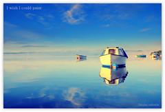 I wish I could paint....... (Nicolas Valentin) Tags: blue light sky lake nature water clouds landscape scotland boat bravo scenery alba lomond lochlomond ecosse kayakscotland
