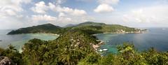 Koh Tao (William J H Leonard) Tags: ocean trees sea panora