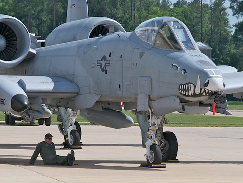 A-10C Warthog Pilot Resting in the Shade