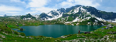 Panorama of Melchsee-Frutt (Werner_B) Tags: trip blue summer panorama lake mountains alps nature berg sport schweiz switzerland see hiking swiss sommer natur panoramic berge alpen blau activity landschaft ferien wandern  turism    turist    melchsee      frutt