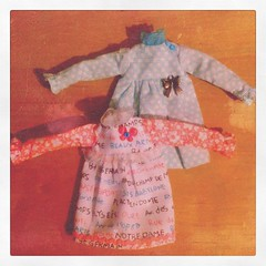 (Aya_27) Tags: pink red white black words dress lace mint dot bow handsewn mywork blythe dots petite ruffle inhand creayations