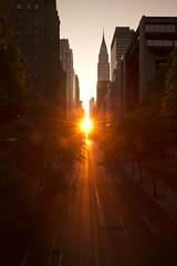 42nd Street Sunset (Regulus12) Tags: nyc newyorkcity sunset newyork chrysler chryslerbuilding 42street tudorcity