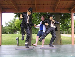 My Mom dancing with The Blues Brothers. (Vinny Gragg) Tags: museum volo bluesbrothers billmurray danakroyd thebluesbrothers voloautomuseum