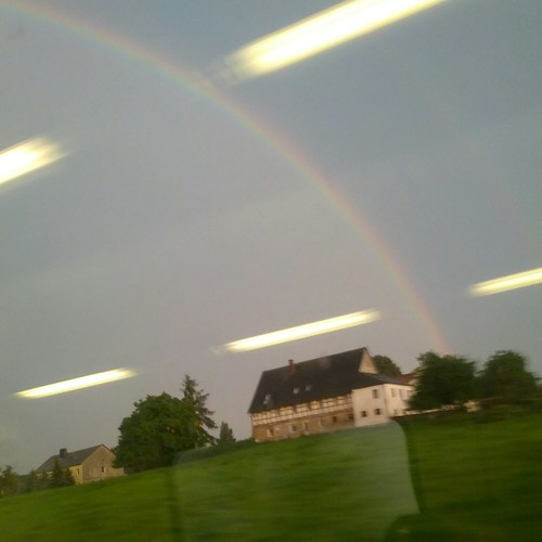 Rainbow in the train