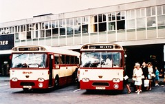 Birch Leopards upload in Bedford. (steve vallance coach and bus) Tags: bedford parkroyal leylandleopard birchbros duc72c duc71c