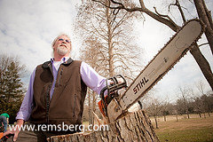 Arborist with saw (Remsberg Photos) Tags: portrait people usa man tree garden saw maryland tools ag trunk concept agriculture arborist gardenthings gardenpeople agriculturethings