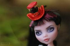 Little red hat for Monster High (Trotilla) Tags: red hat handmade daniella 2012 27cm 201207 draculaura formonsterhigh ooakbyjewel