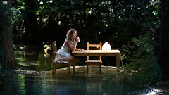 Wild Lonely Breakfast (Alucardo) Tags: light david nature breakfast forest canon river dark table photography chair alone loneliness photographie dof bokeh thomas peaceful l series laure 135mm strobist thomasdavid 5d2 5dii thomasdavidphotography thomasdavidphotographie aloneandisolated