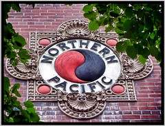Fargo ~ North Dakota ~ Northern Pacific Railway Depot ~ Historic (Onasill) Tags: railroad clock architecture america train terracotta style places historic architect northdakota depot 1001nights romanesque italianate cassgilbert richardsonian fargond nrhp 1001nightsmagiccity onasill