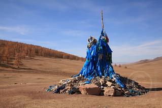 Mongolian Ovoo (Prayer Mound)