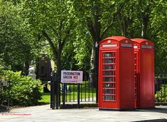 Paddington Green and Red (RichardBeech) Tags: park red london gardens telephone paddington boxes w2 paddingtongreen richardbeech rdb75 paddingtongreenandred