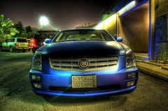 Cadillac STS matte blue HDR (irock_you) Tags: blue cadillac hdr matte sts