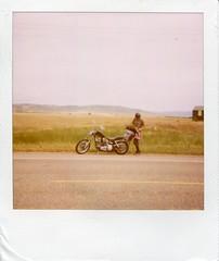 (malinda fisher) Tags: film polaroid harley 600 motorcycle shovelhead