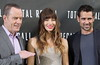 Bryan Cranston, Jessica Biel, Colin Farrell Los Angeles photocall for 'Total Recall', held at The Four Seasons Hotel in Beverly Hills Los Angeles, California