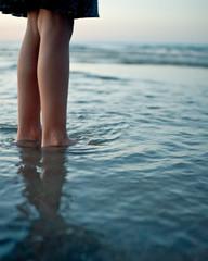 Wading Into the Magic (sierraromeo [sarah-ji]) Tags: chicago feet beach legs lakemichigan wading fosterbeach