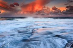 Inundated at Dee Why Beach (sachman75) Tags: sunset water clouds coast waves sydney australia coastal nsw rockpool northernbeaches canon1740mmf4 deewhybeach oceanbaths leefilters canon5dmarkii august2012 gradnd2stops