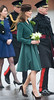Catherine, Duchess of Cambridge, aka Kate Middleton presents shamrocks to members of the 1st Battalion Irish Guards at the St Patrick's Day Parade at Mons Barracks Aldershot, England