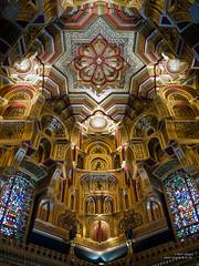 Cardiff Castle - Arab Room ceiling (cybertect) Tags: wales cardiff cardiffcastle williamburges arabroom panasonicg2 panasoniclumixgvario1442mmf3556megaois