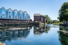 Canal Blue (Stuart_Byles) Tags: blueskies reflections canal houses water chichester blue
