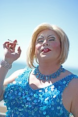 Portraits from the streets of Brighton (Finding Chris) Tags: portraits portraiture street brightonandhove hovelawns prideparade 2016 turquoise sally smoking smoke