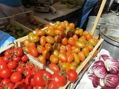 Wednesday Colours - A Visit to the Palermo Market (Pushapoze (MASA)) Tags: italia italy sicilia palermo market pears grapes tomatoes zucchini picklesartichokes