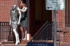 Pay! (AntyDiluvian) Tags: boston massachusetts backbay street newburystreet shop store boutique fashion clothing mannequin pay