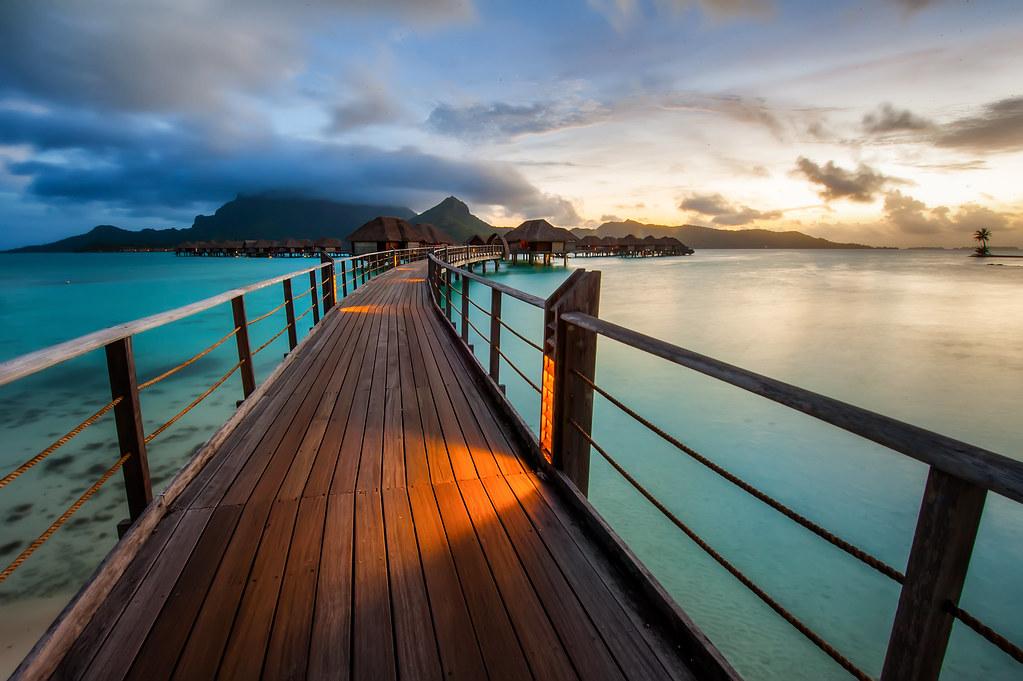 Another shot of a beautiful Bora Bora sunset.