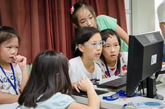 DSC_0720 (roger528852momo) Tags: 2016           little staff person explore summer camp hokuzine ever worker china youth corps ying qiao elementary school arduino robot food processing workshop taipei taiwan roger huang roger528852momo