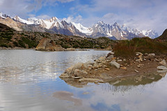 Shiphon: Lake and snow capped mountains (Shahid Durrani) Tags: karakorams karakoram snow lake biafo glacier baltistan pakistan