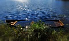 Sunken but not forgotten (nikkorglass) Tags: eka boat bjrndammen sunken sjunken 1635 d700 nikon nikkor reflections speglingar