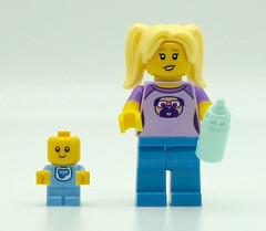 The Babysitter (Pasq67) Tags: lego minifigs minifig minifigure minifigures afol toy toys flickr pasq67 series srie 16 brickpirate babysitter