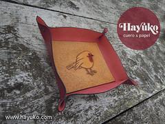 VACIABOLSILLOS RAITN (hayuko.com) Tags: hayuko hayukocom hayukocueroypapel hayukocueropapel artesano artesana craft artesania personalizado handmade crafting cuero cueroypapel papel etsy leather raitan petirrojo robin vaciabolsillos tray leathertray
