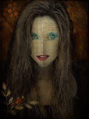 Eastwick Charmer. (jimlaskowicz) Tags: portrait eastwick text woman bird art layers artistic surreal charm