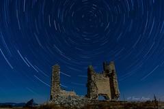 Ruina del Castillo de Caudilla, Toledo (tomicio) Tags: caudilla toledo longexposure estrellas stars night nikond7100 nikon nocturna tokina1116 castillo castle circumpolar