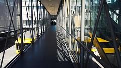 Bus at airport (narnejo) Tags: osl osloairport gardermoen buss bus yellow