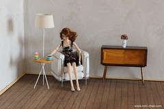 Mid-century modern room (Mini-Chair) Tags: momokofurniture momoko midcenturymodern 16scale 16scalefurniture 16diorama playscale display