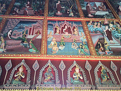 Wall Paintings in Wat Bang Hua Suea, Moo 8, Phra Pradaeng, Samut Prakan Province, Thailand. (samurai2565) Tags: watbanghuasuea moo8 banbanghuasuea tambonbanghuasuea amphoephrapradaeng samutprakan samutprakanprovince thailand templesinsamutprakan